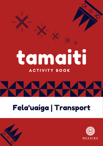 Tamaiti Transport Activity Book - Measina Treasures of Samoa