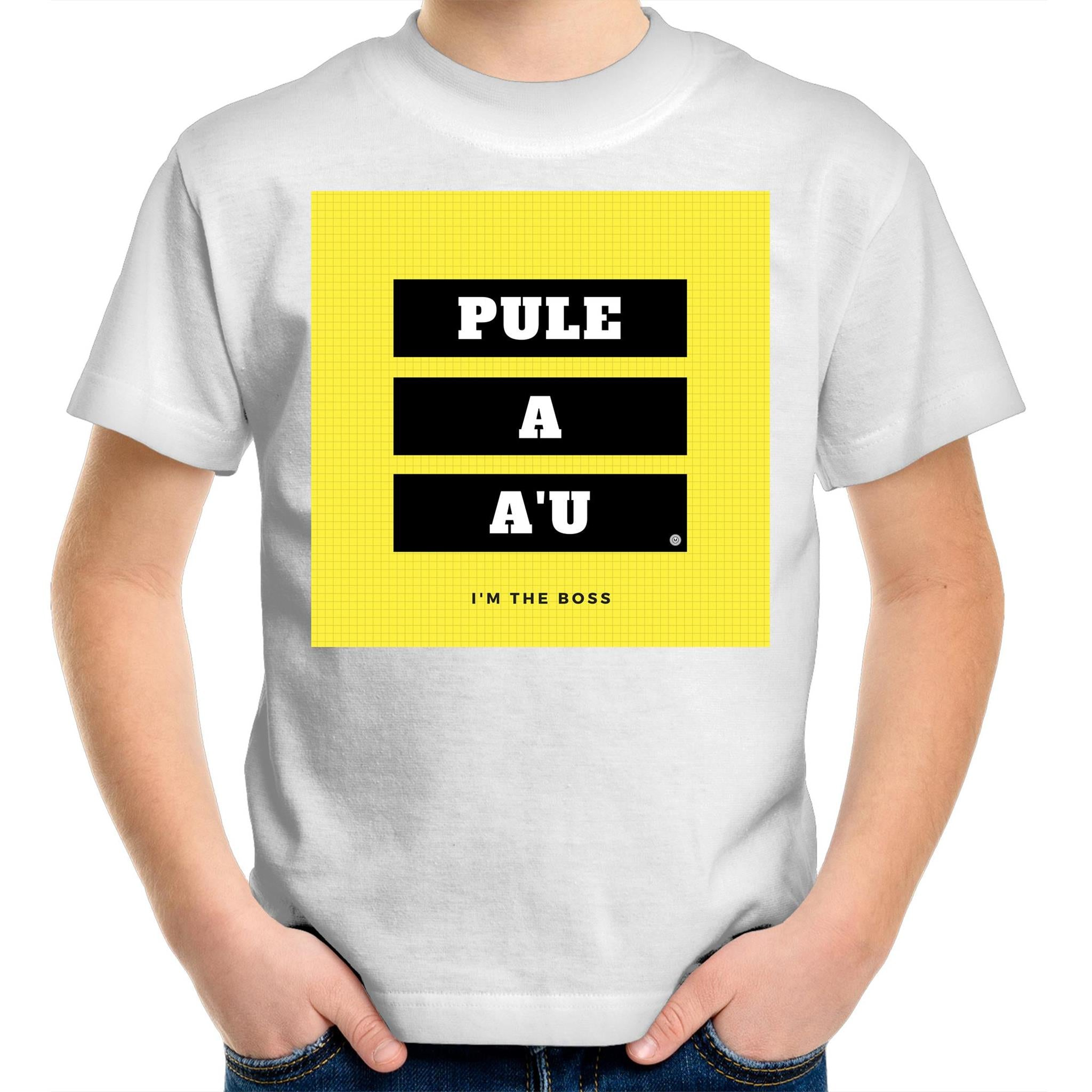 Pule A A'u - I Am the Boss Kids Youth Crew T-Shirt - Measina Treasures of Samoa