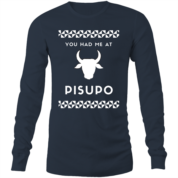 You Had Me at Pisupo AS - Mens Long Sleeve T-Shirt - Measina Treasures of Samoa
