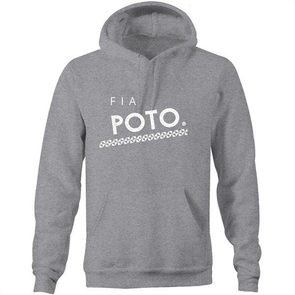 Fia Poto AS Colour Stencil - Pocket Hoodie Sweatshirt - Measina Treasures of Samoa