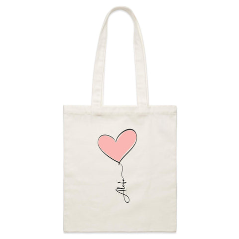 Alofa Canvas Tote Bag - Measina Treasures of Samoa