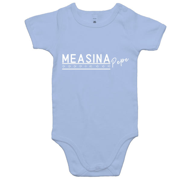 Measina Pepe AS Colour Mini Me - Baby Cotton Onesie Romper - Measina Treasures of Samoa