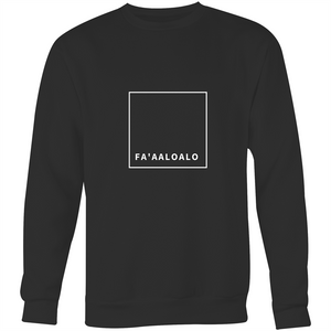 Faaaloalo White AS Colour Box - Crew Neck Jumper Sweatshirt - Measina Treasures of Samoa
