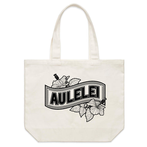 Aulelei Shoulder Canvas Tote Bag - Measina Treasures of Samoa