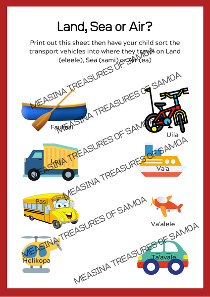 Tamaiti Transport Activity Book