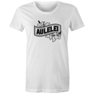 Aulelei AS Colour - Women's Maple Tee - Measina Treasures of Samoa