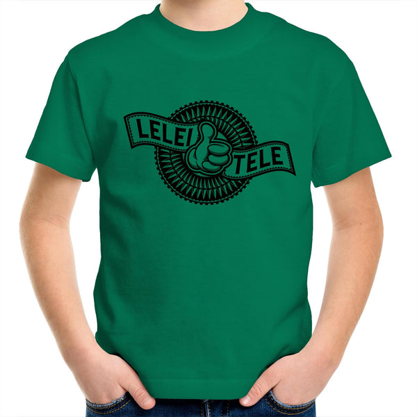 Lelei Tele AS Colour Kids Youth Crew T-Shirt - Measina Treasures of Samoa