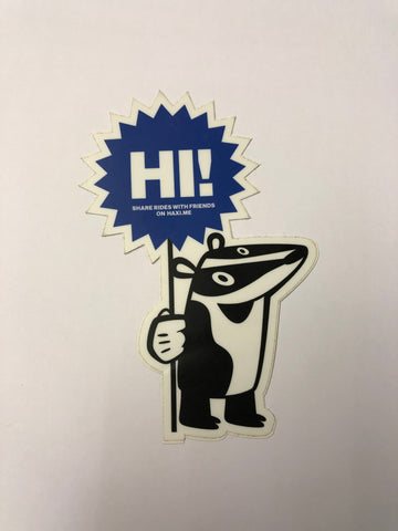 Haxi badger sticker