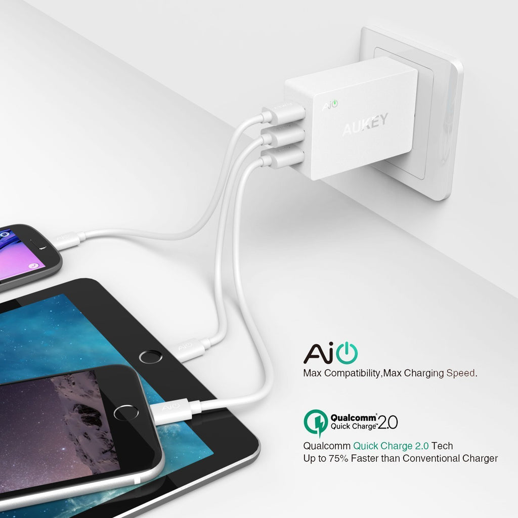 DEAL: Aukey Quick Charge 2.0 42W 3 Port Charger for SG$32