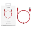 Aukey [CB-AL1/AL2] [MFI Certified] 1.2m / 2m Braided Lightning to USB Cable