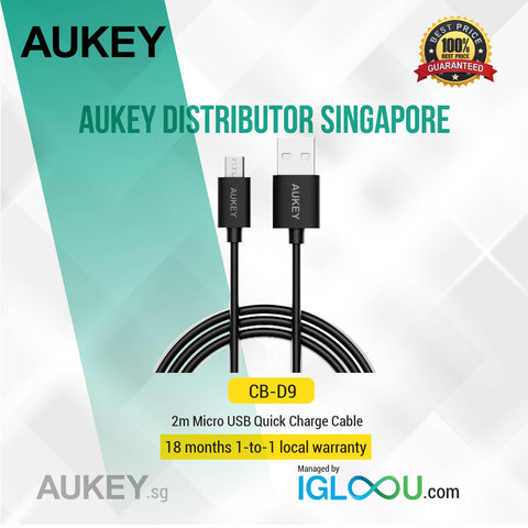 Aukey [CB-D9] Micro USB Cable, Sync and Charging Cable (6.6ft)