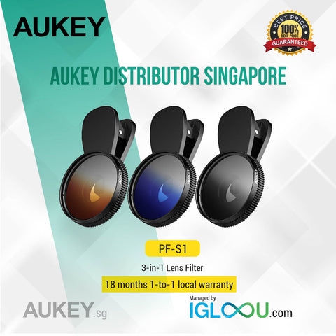 Aukey [PF-S1] 37mm Lens Filter Kit 3-Pack