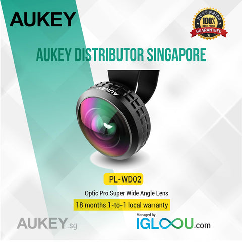 Aukey [PL-WD02] High Clarity 238° Field of View, Ultra wide Angle