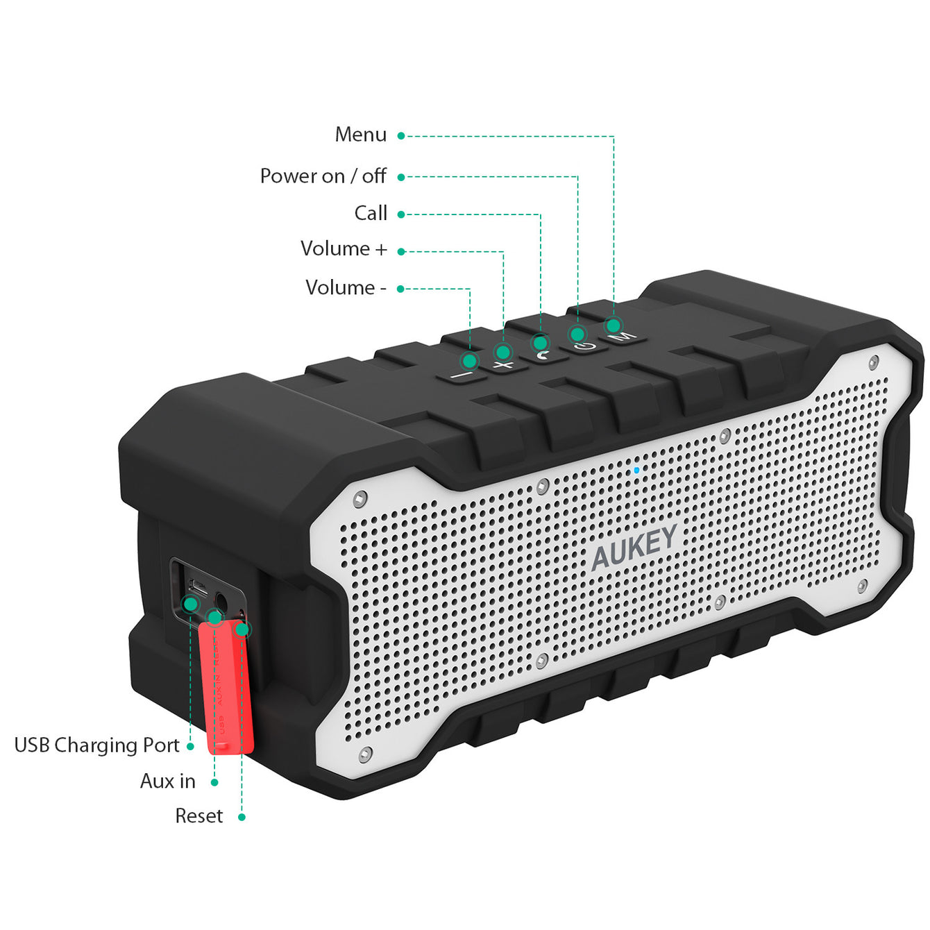 Aukey [SK-M12] SoundTank Waterproof Bluetooth 4.1 Speaker