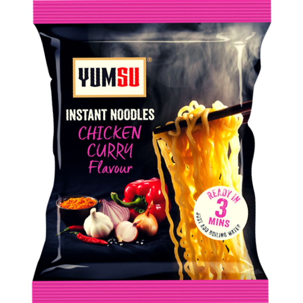Fideos De Curry Con Sabor a Pollo | Chicken Flovour Curry Noodles Yumsu