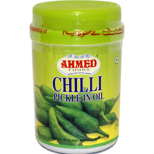 "Pickle de chile verde (encurtido) | ""Ahmed"" Chilli Pickle 1kg"