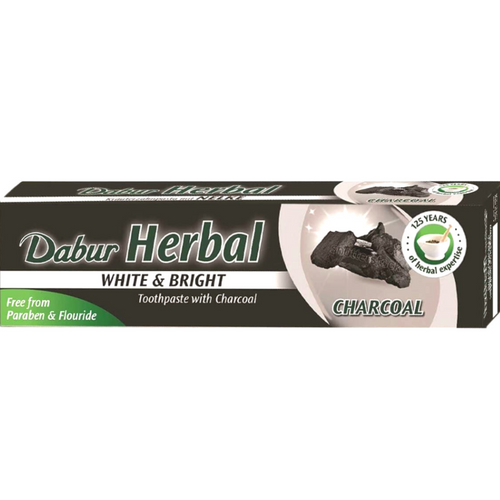Pasta de Dientes Herbal Blanqueadora de Carbon Activado | Activated Charcoal Toothpaste Dabur Herbal 100ml