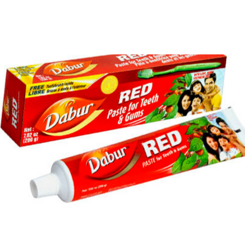 Pasta de Dientes Herbal con plantas ayurvedicas | Red Ayurvedic plants Toothpaste Dabur Herbal