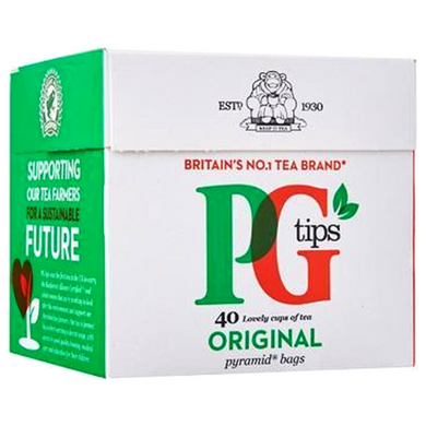 Te negro en bolsitas PG Tips | Black tea bags PG Tips 40bags