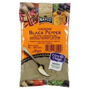Pimienta negra en polvo | Black Pepper powder Natco 100g