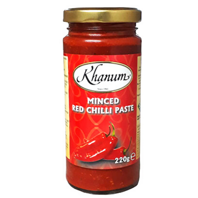 Pasta de Chile Rojo | Minced Red Chilli Paste Khanum 220g