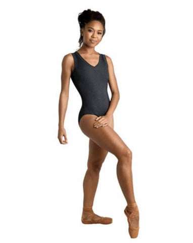 Danz-N-Motion V-Neck Plush Rib Leotard
