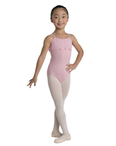 Danz-N-Motion Children Pleated Yoke Leotard