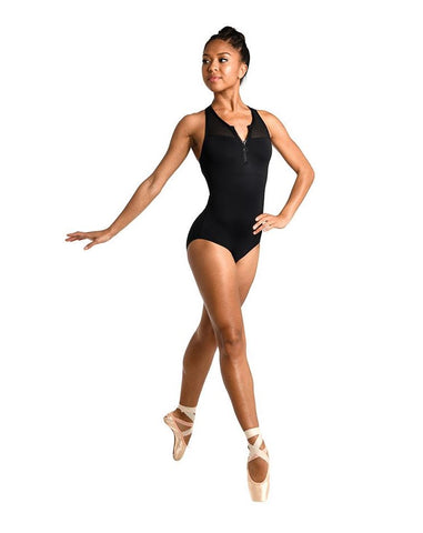 DanzNmotion Zip Front Racer Back Leotard