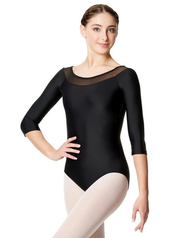 Calla Mesh Long Sleeve Leotard Hazel