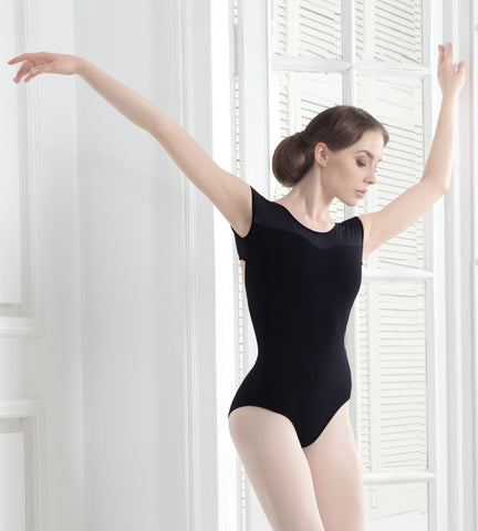 Grishko Cap Sleeve Leotard with Mesh