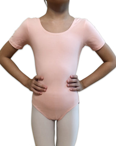 Arabesque Children's Uniform Short Sleeve Leotard