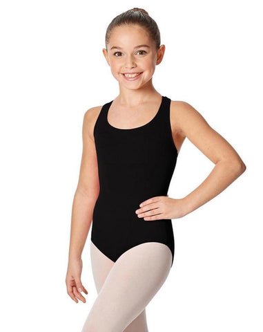 Lulli Girls Brushed Cotton Tank Leotard Ember