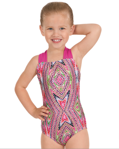 Eurotard Child Kaleidoscope Print Gymnastic Leotard