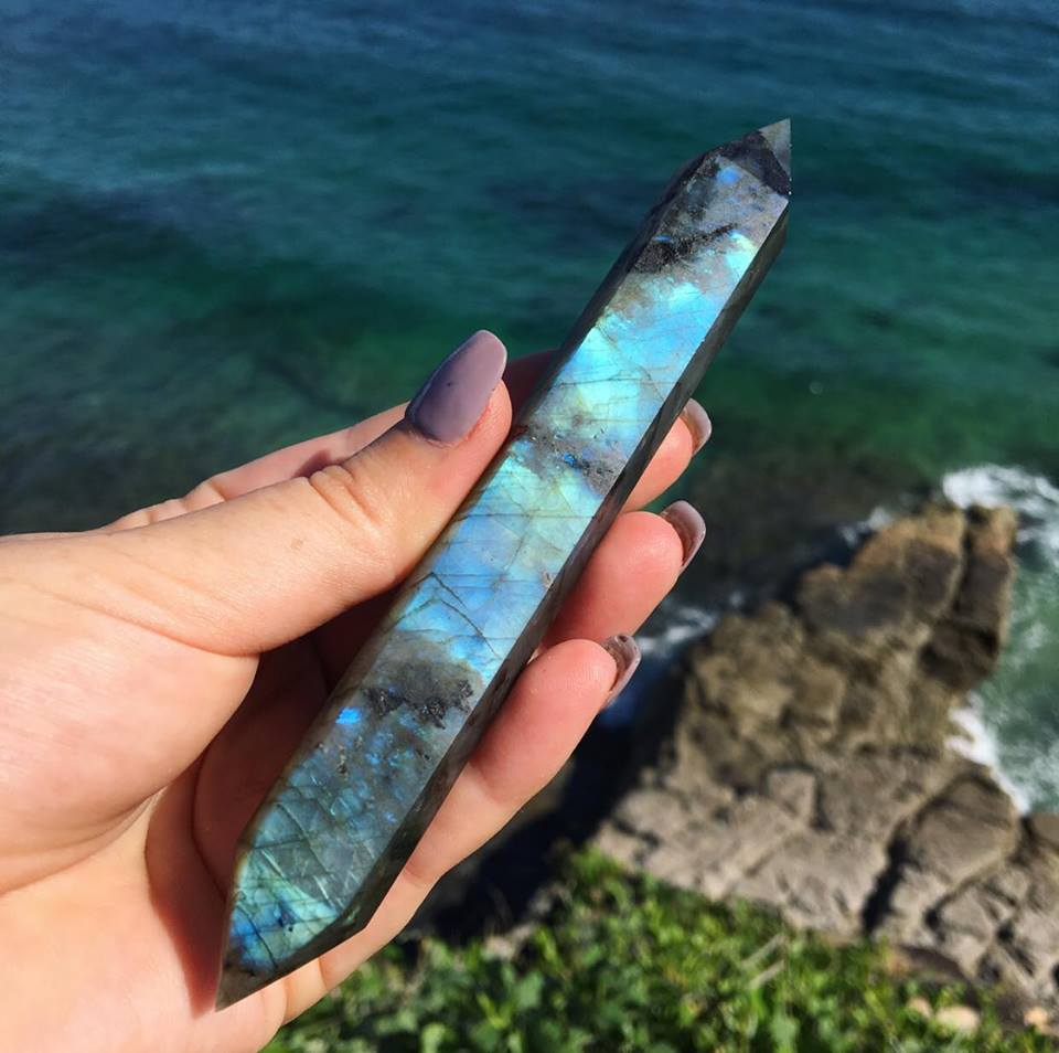 Labradorite Double Terminated Wands