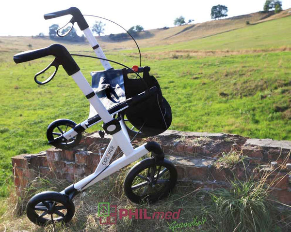 Rehasense Outdoor Rollator Walker Explorer, White - online Shop Philmed 24 Gesundheit - 4