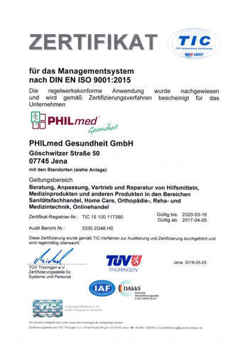 Philmed Zertifizierung TÜV International Certification_01
