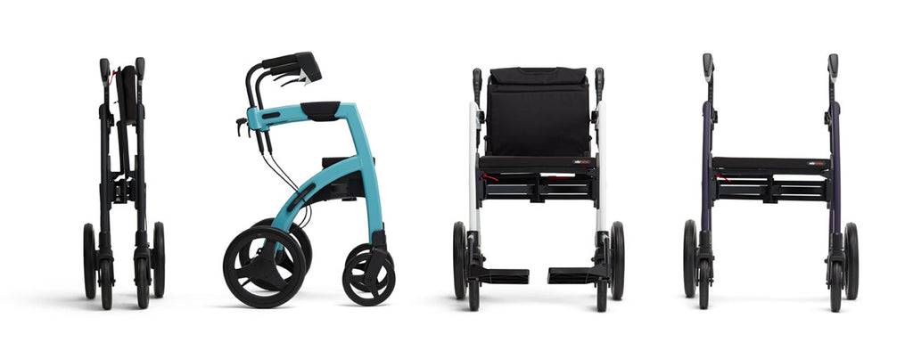 Rollz 2 in 1 Rollator Rollz Motion, Matt Black - Online Shop PHILmed Gesundheit