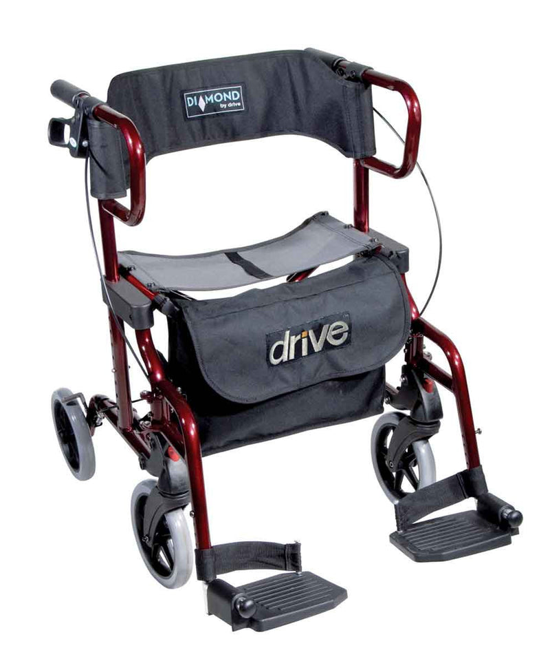 Drive Medical Rollator Diamond Deluxe, rot - PHILmed Gesundheit