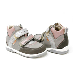 Memo Polo Junior Kinderschuh_grau_pink_PHILmed