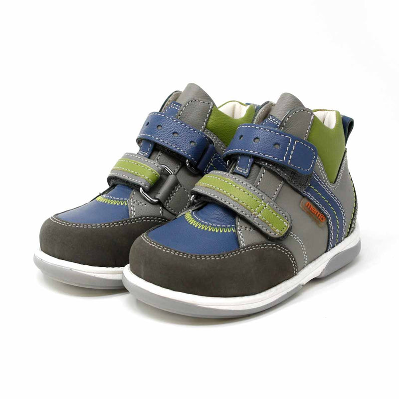 Memo Polo Junior Kinderschuh_Grau__blau_grün_PHILmed