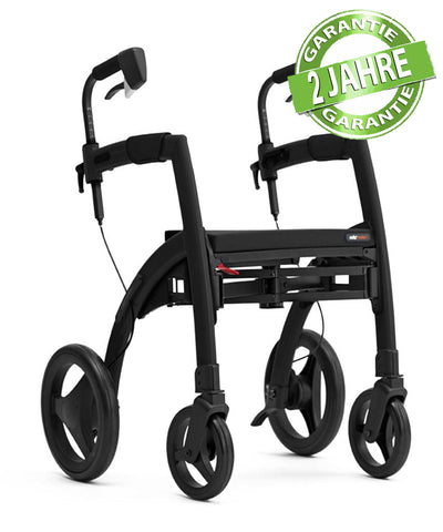 Rollz 2 in 1 Rollator Rollz Motion, Matt Black