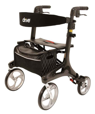 Drive Medical Rollator Nitro Carbon, schwarz, 5,5 kg