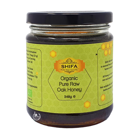 Organic Pure Raw Oak Honey 340g