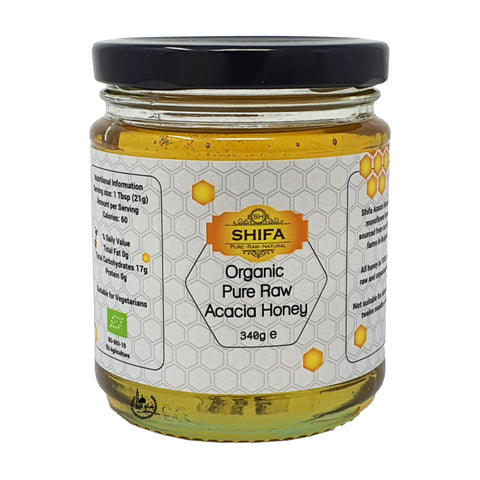 Organic Pure Raw Acacia Honey 340g