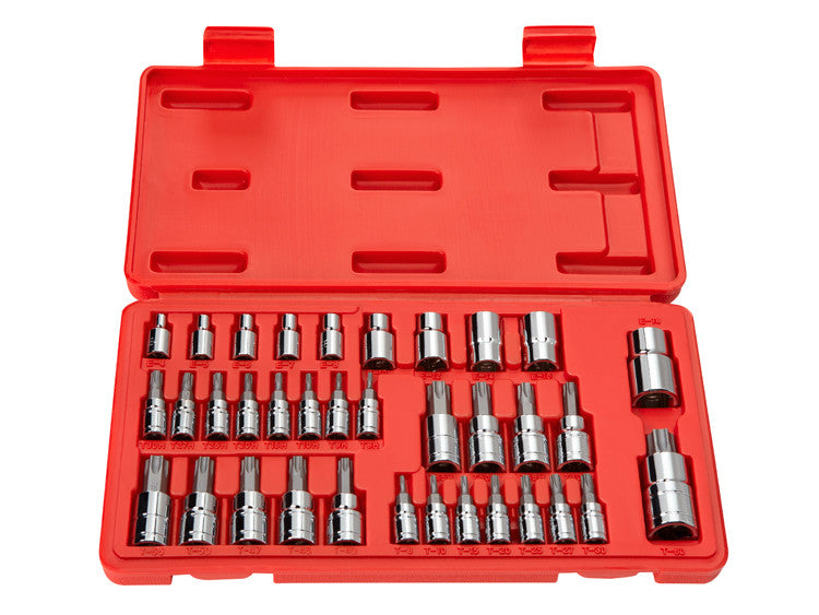 Tekton 1354 35-Piece Star Bit Socket and E Socket Set for 1/4-Inch, 3/8-Inch and 1/2-Inch Drive Ratchets