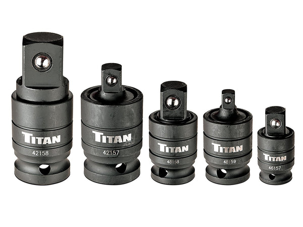 Titan Tools 5 Piece Wobble Adapter Impact Socket Set, 16150