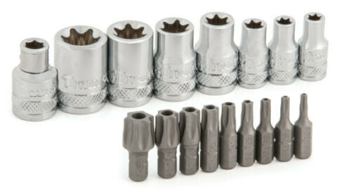 Titan 16160 17pc External Torx® Socket & Torx® Bit Set