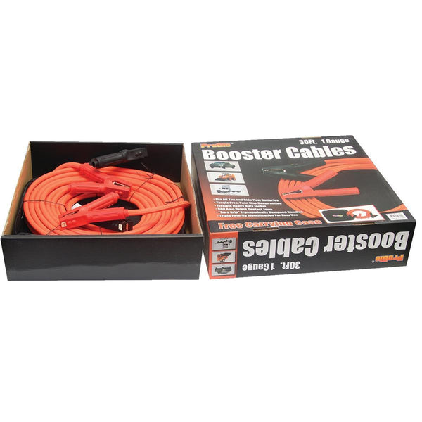 Century Pro Glo 1 Gauge 30' Booster Cables, D1110130OR