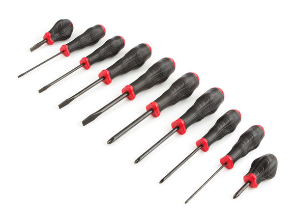 TEKTON 26756 Slotted and Phillips USA Screwdriver Set, 10-Piece