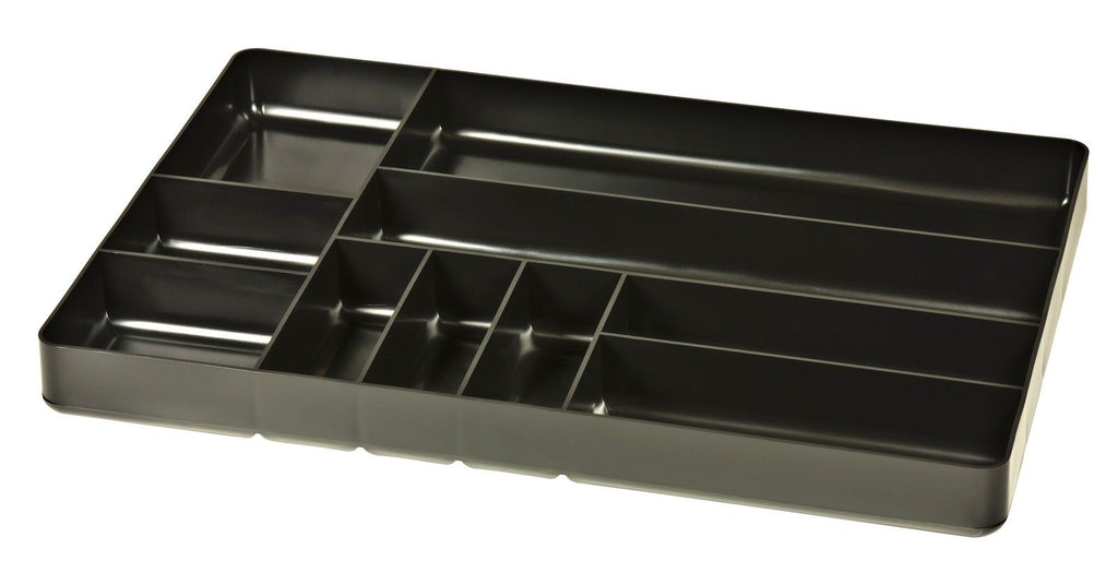 Ernst #5011 10 Compartment Toolbox Tray Organizer, Black